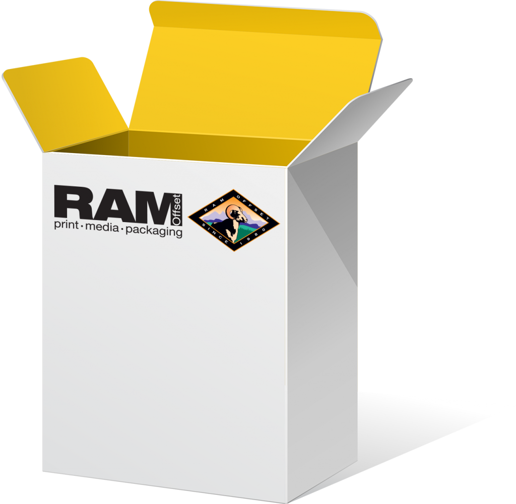 Packaging Box with Ram logo